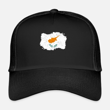 Cyprus Roots roots flag homeland country Cyprus png - Trucker Cap