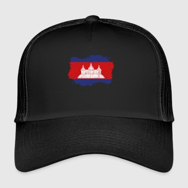 Roots Accueil Drapeau du Cambodge Png - Trucker Cap