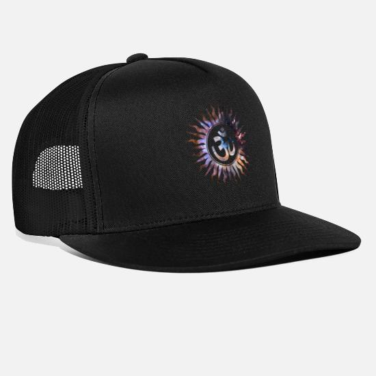 Space Ship Caps & Hats - Om Mantra Symbol - Trucker Cap black/black