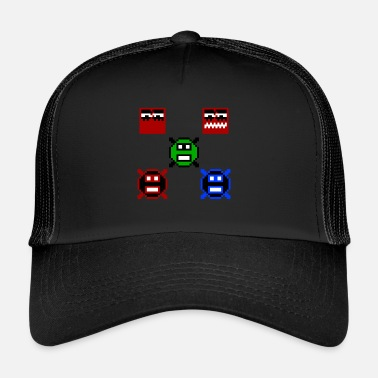 Pixelart Retro Gaming - Trucker Cap