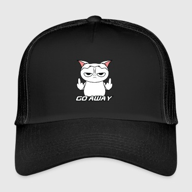 Grumpy Cat Grumpy Go Away Cat - Trucker Cap