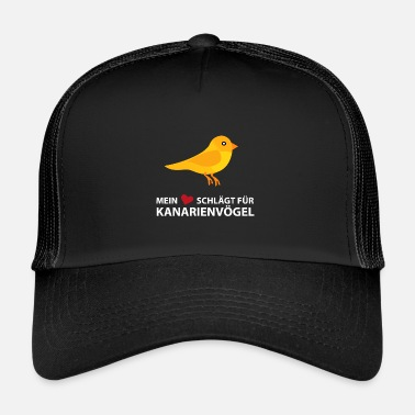 Canary Islands My heart beats for canaries - Trucker Cap