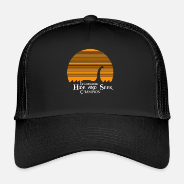 Loch Ness Monster Lochness Monster Loch Ness Nessie Halloween Dark - Trucker Cap