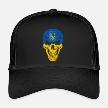 Skull skull Ukraine nation Crimea Ukrainians - Trucker Cap