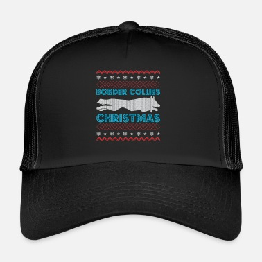 Borderlands Border Collie Christmas Ugly Sweater - Trucker Cap
