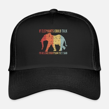 Elephant Talking Africa Safari Citation Vintage - Trucker Cap