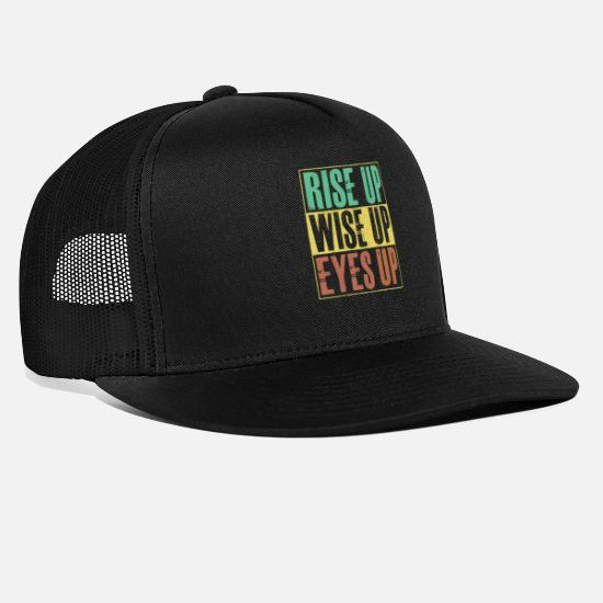 Hamilton Caps & Hats - Rise Up Wise Up Eyes Up Hamilton T Shirt - Trucker Cap black/black