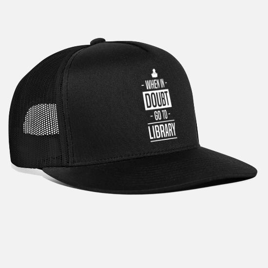 Brain Caps & Hats - Doubt | Library | Read Books | Knowledge | Learn - Trucker Cap black/black