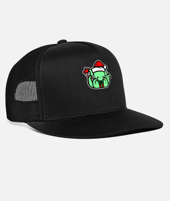 Tentacles Caps & Hats - Xmas Octopus - Trucker Cap black/black