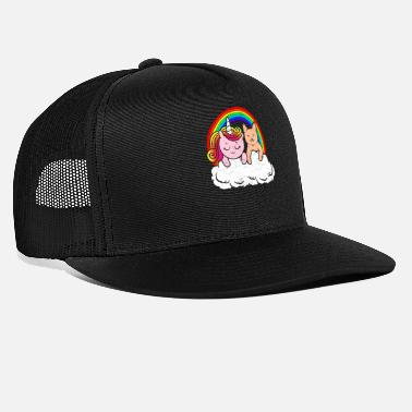 Cat Face Animal girlfriends unicorn cats friendship - Trucker Cap