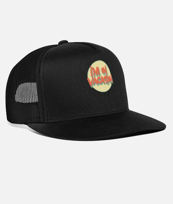 Heart Caps & Hats - vacation - Trucker Cap black/black