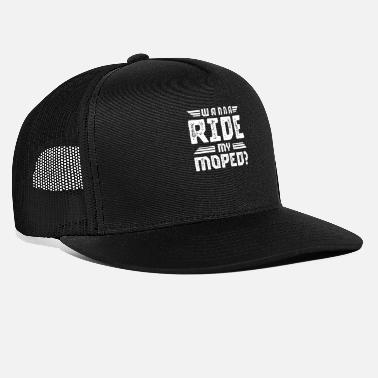 Two-wheeled Mokick moped driver moped gift moped driver - Trucker Cap