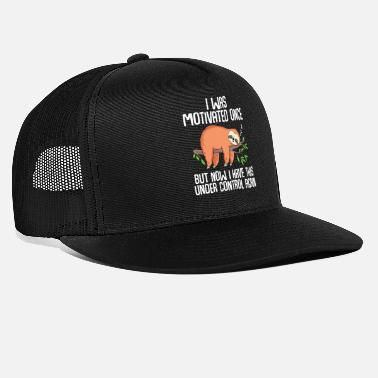 Schlafmütze I Was Motivated Funny sloth employee work - Trucker Cap