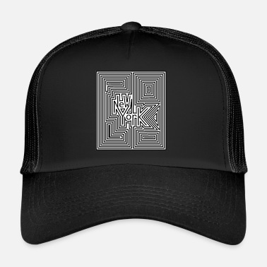 New York Texto ciudad new york - Gorra trucker 3f21d0fa162