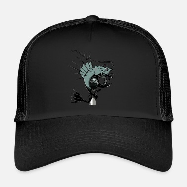 Plymouth Fishy-lobster plymouth barbican - Trucker Cap