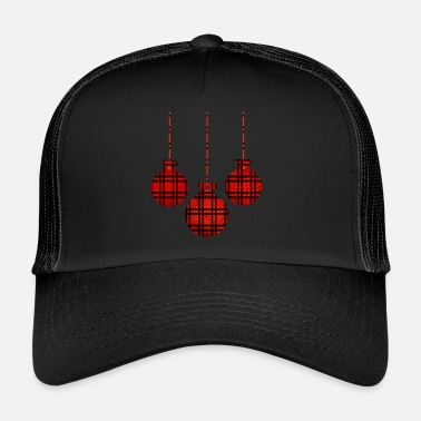 Carreaux Balle de Noël à carreaux Buffalo à carreaux - Trucker Cap