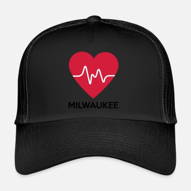 Milwaukee coeur Milwaukee - Trucker Cap