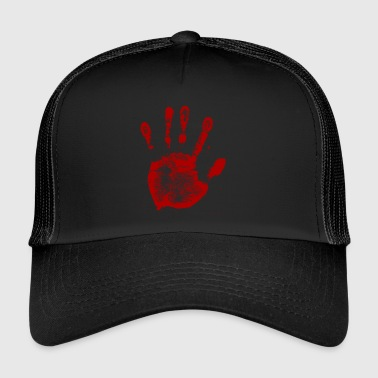 Handprint Hand imprint of Red - Trucker Cap