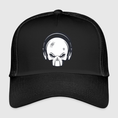 Rock crâne de punk rock - Trucker Cap