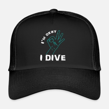 Scuba Diving ScubaImOK001 - Trucker Cap