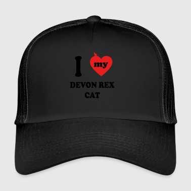 I love fat cats DEVON REX CAT - Trucker Cap