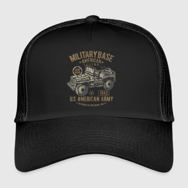 Jeep MILITARY BASE - US Army Jeep Shirt Motiv - Trucker Cap