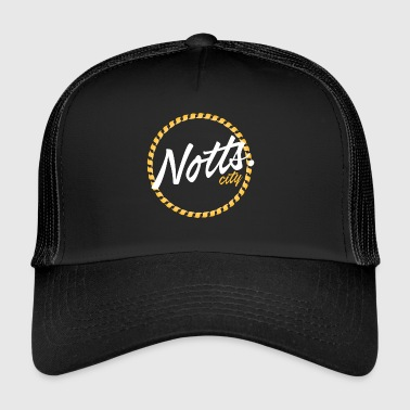 Notts.city logo yellow - Trucker Cap