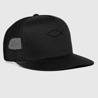 Fish Drawing Religious Identification - Trucker Cap