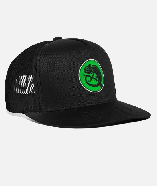 Tongue Caps & Hats - chameleon - Trucker Cap black/black
