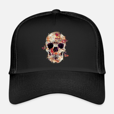 Skull skull-and-butterfly - Trucker Cap
