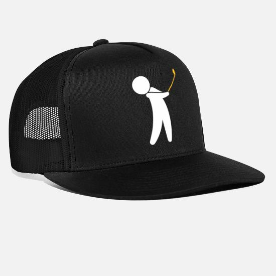 Symbol  Caps & Hats - A Golfer Swings His Golf Club - Trucker Cap black/black
