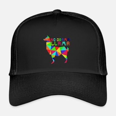 Lama No Drama Lama colorful funny saying animal gift - Trucker Cap