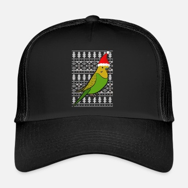 Budgerigar hat gift Christmas Ugly Chr - Trucker Cap