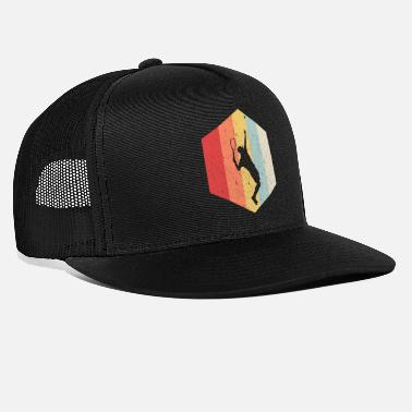 Gul Tennis Retro Tennis Player Sekskant - Trucker cap