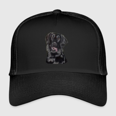 flatcoated retriever pastels - Trucker Cap