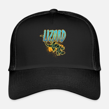 Lizard Cool tribal lizard - Trucker Cap