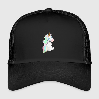 Unicorn sitting - Unicorn Sitting - Trucker Cap