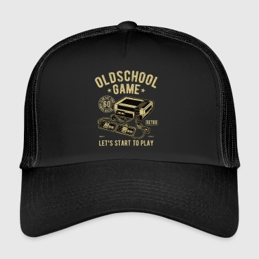 Oldschool Game Video Game Gamer gambler gift - Trucker Cap