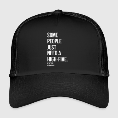 Provoke High Five Chair Silly Gift Provokant Face - Trucker Cap