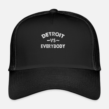 Detroit Detroit VS Alle Alle Hip Hop Gangsta Rap - Trucker Cap