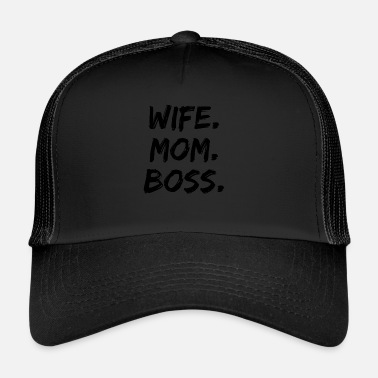 Hustru Hustru Mom Boss Mother Gift - Trucker Cap
