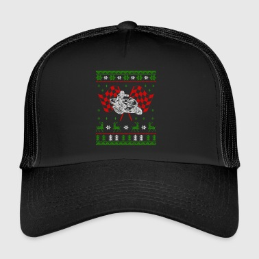 Motorcycle Superbike Ugly Christmas Jumper - Trucker Cap
