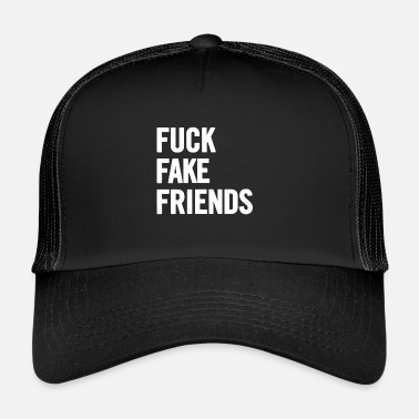 Fake Baise Fake Friends 2 Blanc - Trucker Cap