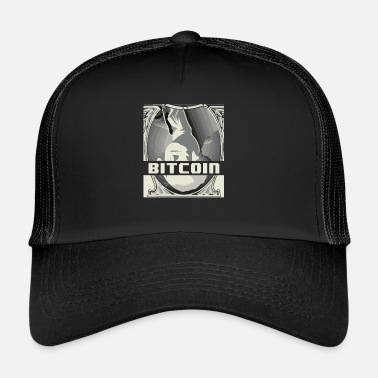 Currency Upside Down Dollar Bitcoin Digital Currency Crypto - Trucker Cap