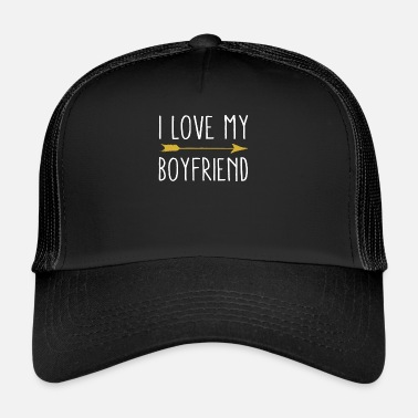 I Love My Boyfriend I Love My Boyfriend Tribal Arrow February - Trucker Cap
