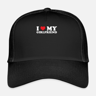 I Love My Girlfriend I Love My Girlfriend Rood hart Romantische Valentijnskaarten - Trucker Cap