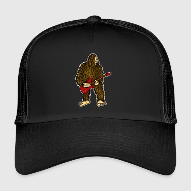Bigfoot jouant de la guitare Funny Rock Guitarist - Trucker Cap