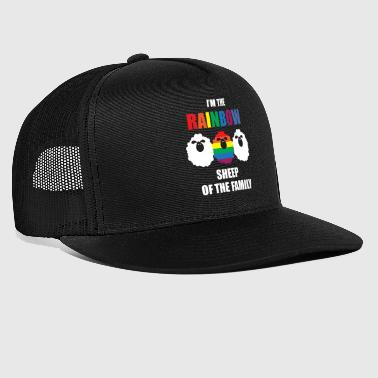 Gay - Rainbow - Sheep - Family - Gay Pride - Homo - Trucker Cap