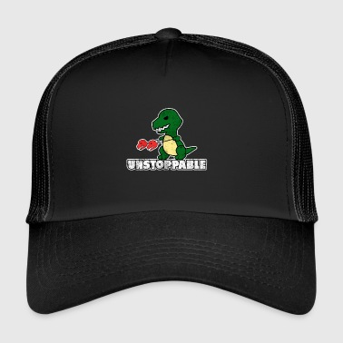Enforcement Dino Unstoppable Gift Enforce Motivation - Trucker Cap