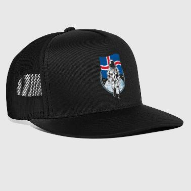 Iceland flag in outer space - Trucker Cap